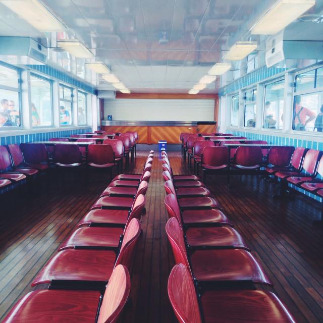 """The empty ferry"" stock image"