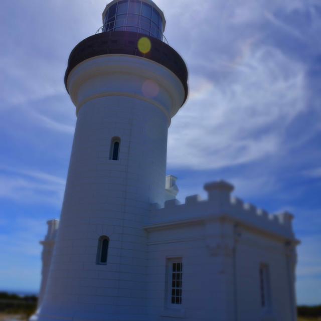 """Lighthouse Backlight"" stock image"