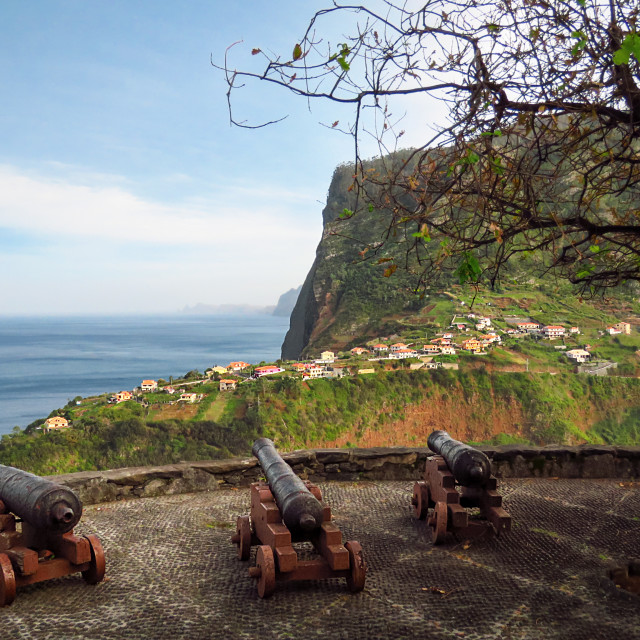 """""""Fortress of Faial"""" stock image"""