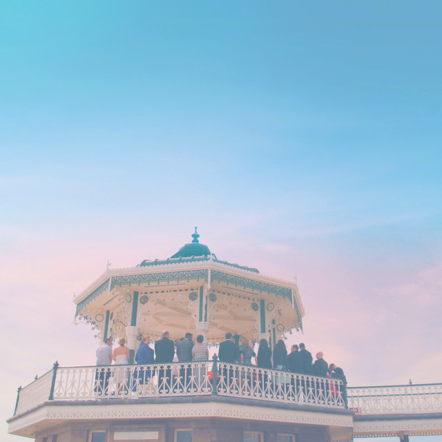 """Bandstand Wedding"" stock image"
