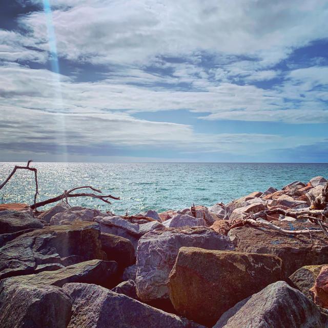 """West Beach Rocks"" stock image"