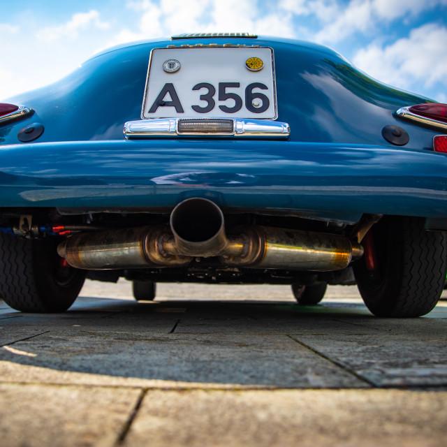 """""""Porsche A 356 in blue"""" stock image"""