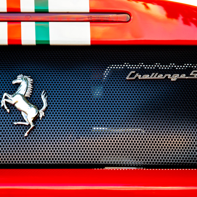 """Rear view Ferrari"" stock image"