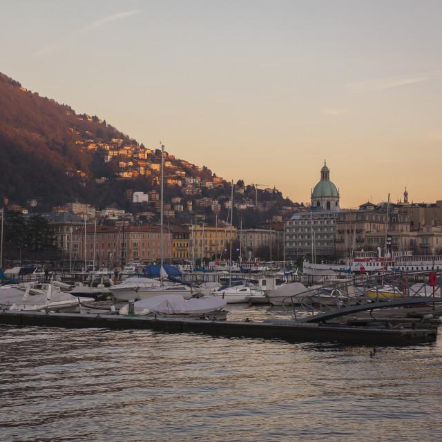 """City of Como, Lombardy, Italy"" stock image"