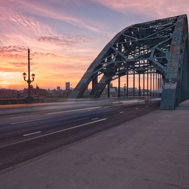 """Newcastle Tyne Bridge Sunset"" stock image"