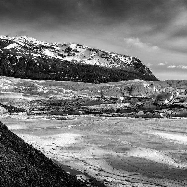 """""""The tip of the Glacier"""" stock image"""