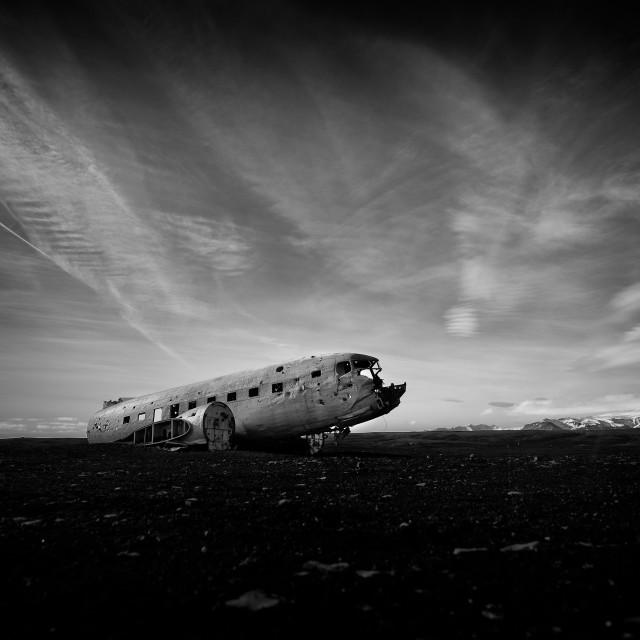 """The Sólheimasandur plane wreck"" stock image"