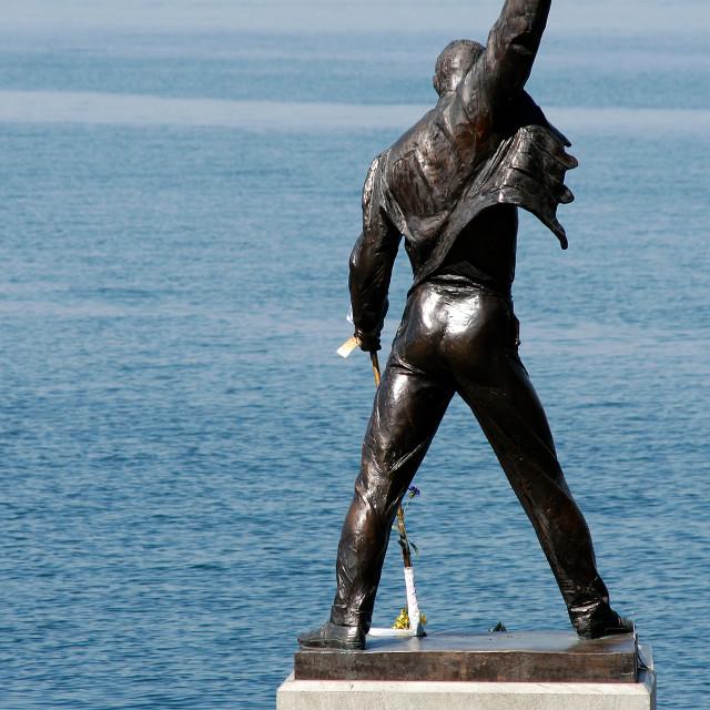 """Freddie Mercury Statue (Queen), Montreux, Switzerland"" stock image"