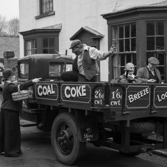 """Grumpy coal man"" stock image"