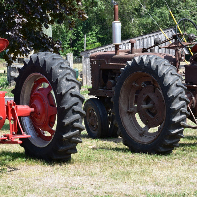 """""""History of the tractor"""" stock image"""