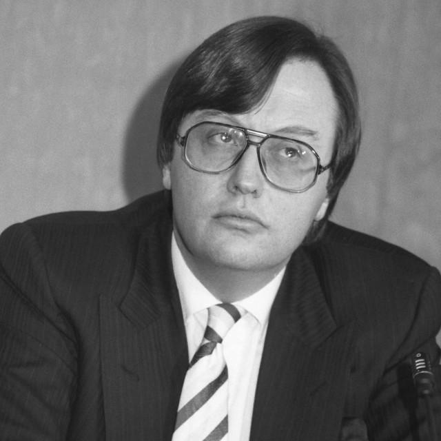 """David Mellor, politician"" stock image"