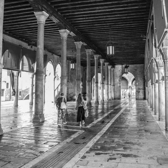 """fish market of Venice"" stock image"