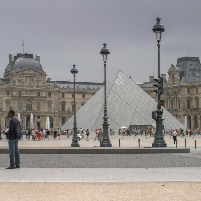 """The Louvre Museum, Paris, France"" stock image"