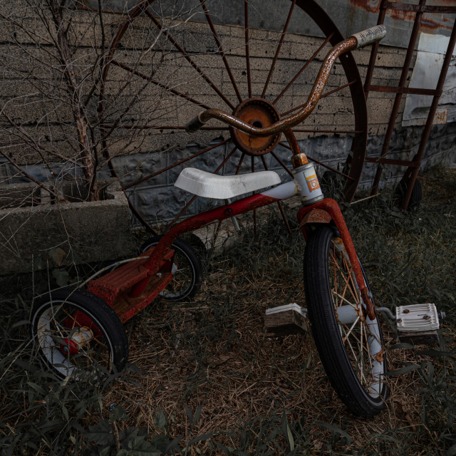 """Antique Tricycle"" stock image"