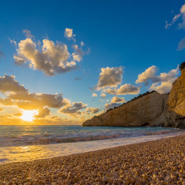"""Porto Katsii beach on the island of Lefkas"" stock image"