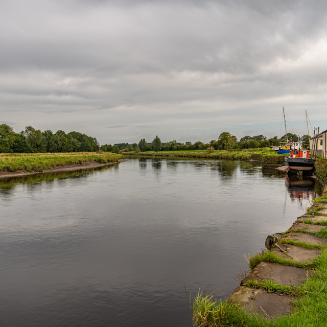"""""""Kingholm Quay on the River Nith, Dumfires & Galloway, Scotland"""" stock image"""