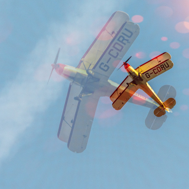 """""""Biplane Double Exposure"""" stock image"""