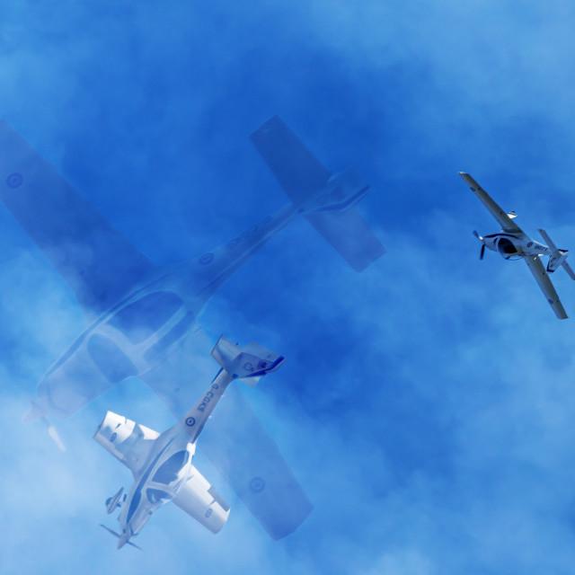 """Aerobatics Tripple Exposure"" stock image"