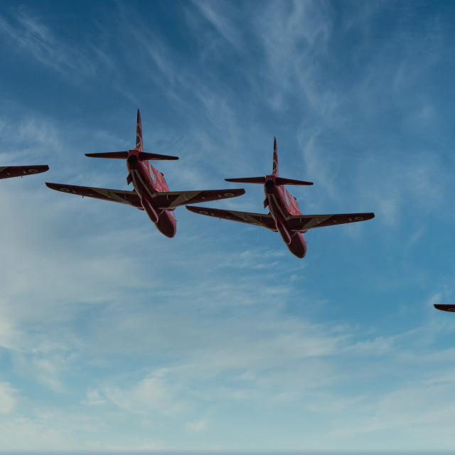 """""""Red Arrows Flypast"""" stock image"""