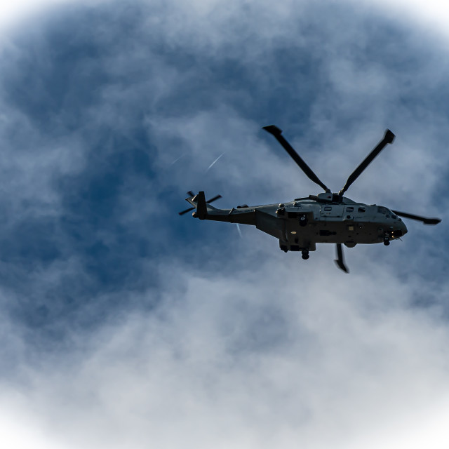 """""""Helicopter Flypast"""" stock image"""
