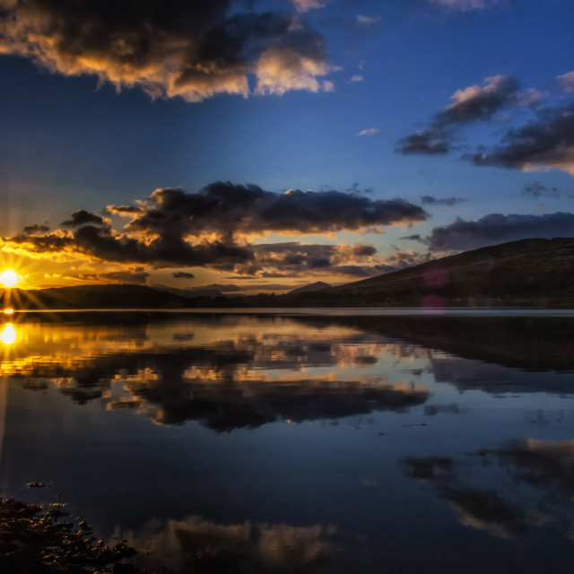 """Loch Linnhe Sunset"" stock image"