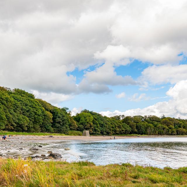 """Rigg Bay, Garlieston, Dumfries & Galloway, Scotland"" stock image"