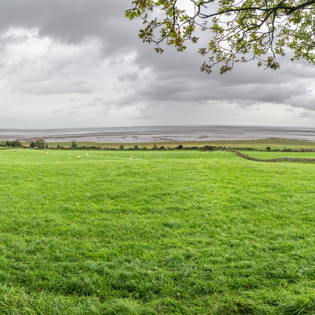 """""""Panorama of the Solway Firth from Drumburn, Dumfries & Galloway, Scotland"""" stock image"""