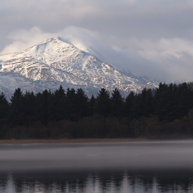 """""""Ben Lomond from across the Lake of Menteith"""" stock image"""