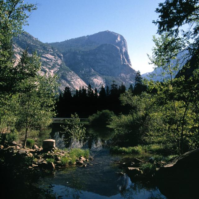 """""""North Dome in Yosemite"""" stock image"""