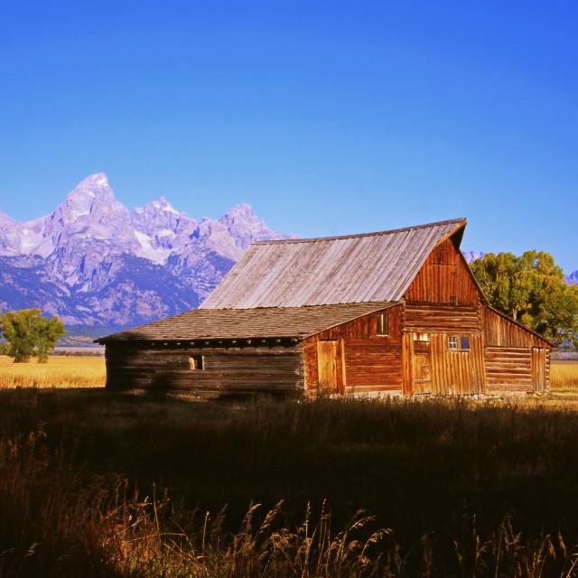 """The Moulton Barn"" stock image"