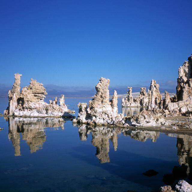 """Tufa Formations on Mono Lake"" stock image"