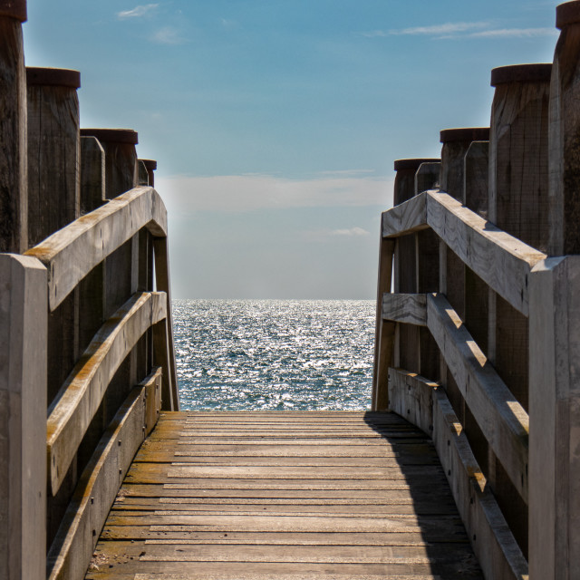 """""""Path to the sea"""" stock image"""