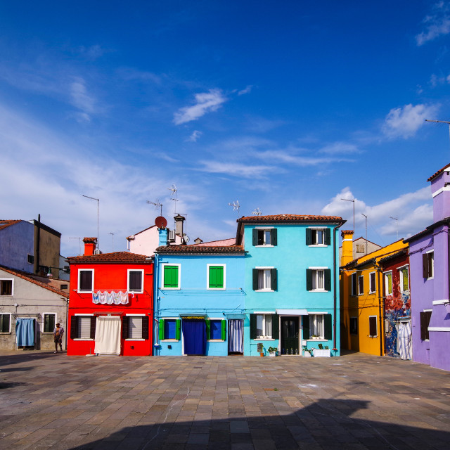 """""""colors of Burano"""" stock image"""