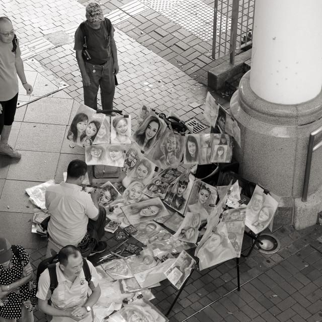 """Painter in Hong Kong"" stock image"