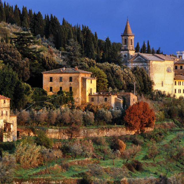 """L'Oasi Hotel, Cortona, Tuscany"" stock image"