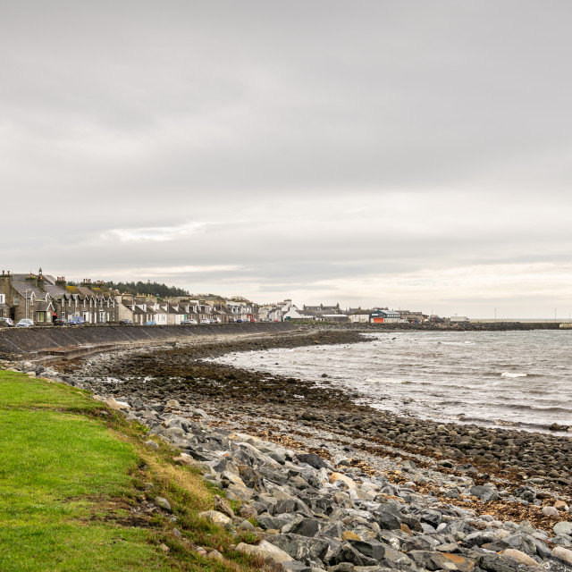 """""""The Coastline and town of Port William, Port William, Dumfries & Galloway, Scotland"""" stock image"""