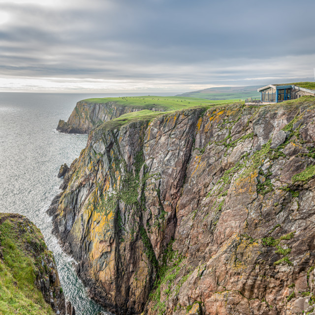 """""""Callie Craig Coffee House on the cliffs, Mull of Galloway, Dumfries & Galloway, Scotland"""" stock image"""