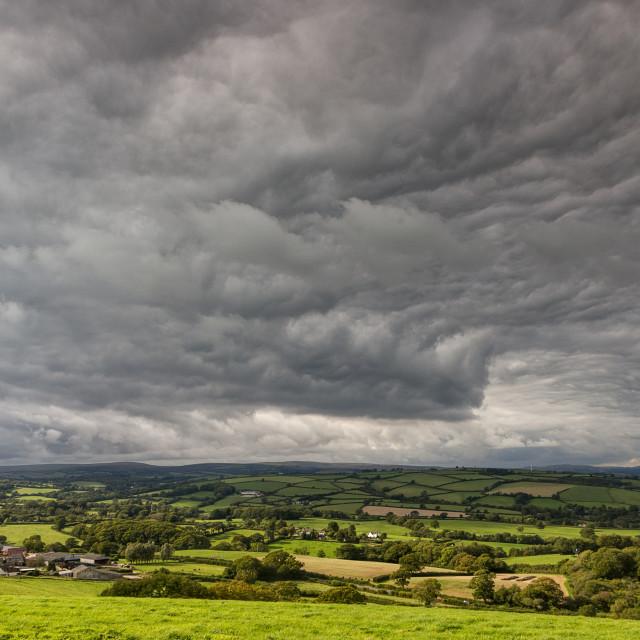 """""""Asperitas Clouds - Blakemore Down"""" stock image"""