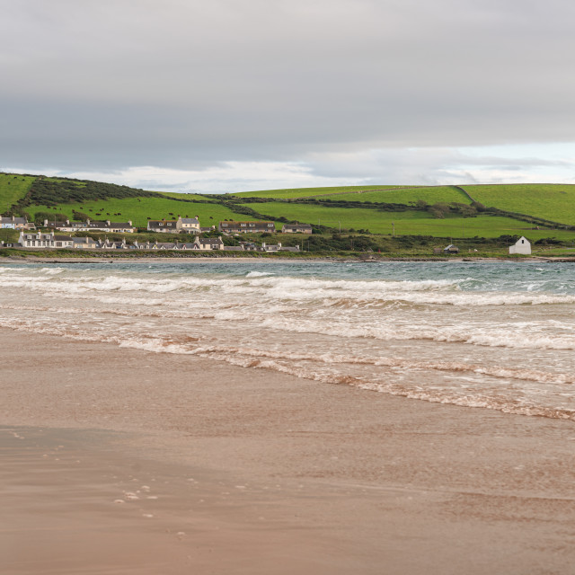 """""""Port Lagon and Harbour wall from the beach, Port Lagon, Dumfries & Galloway, Scotland"""" stock image"""