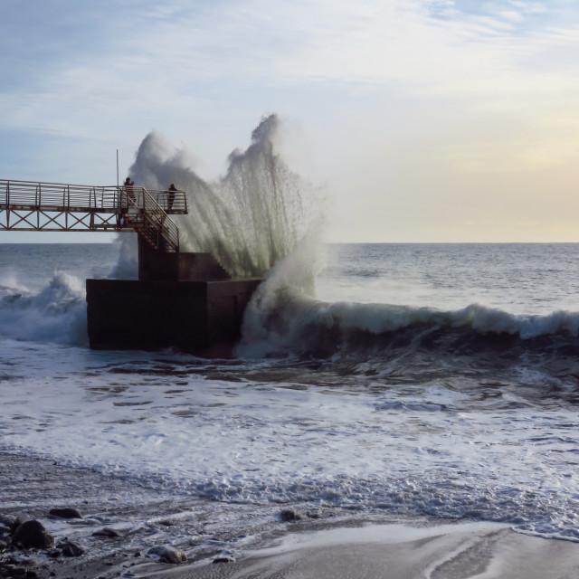 """""""Crashing wave"""" stock image"""