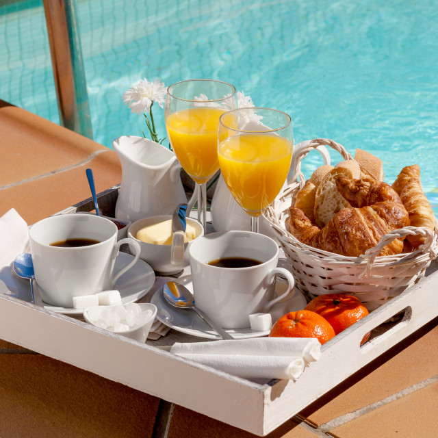"""Summer breakfast"" stock image"