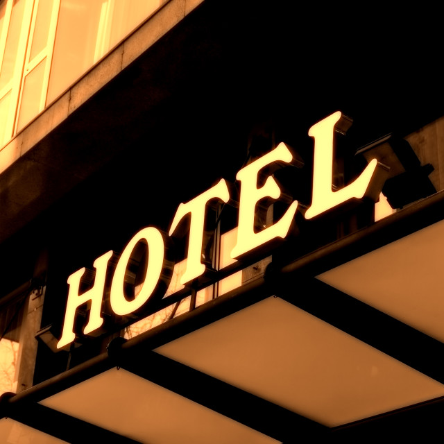 """Hotel sign"" stock image"