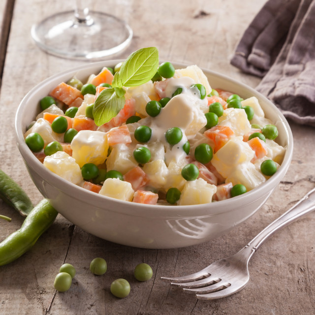 """Russian Olivier salad"" stock image"