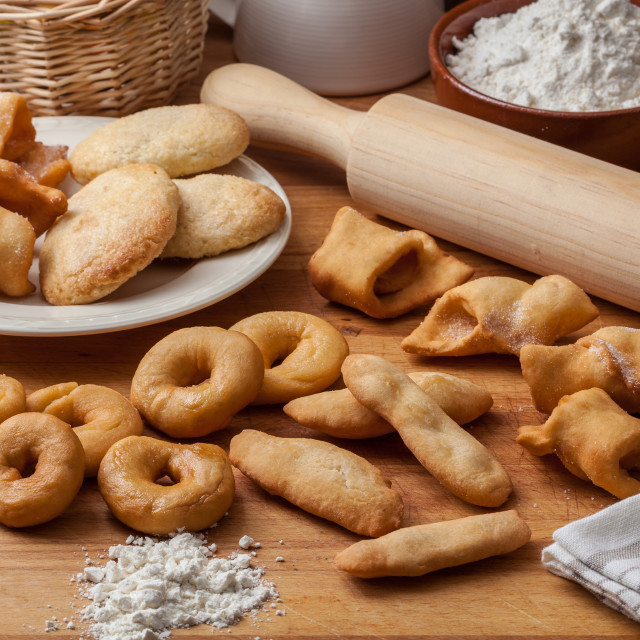 """Spanish traditional pastry"" stock image"