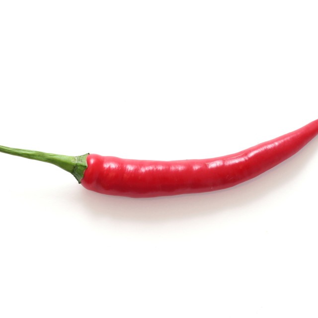 """Chili pepper isolated on white"" stock image"