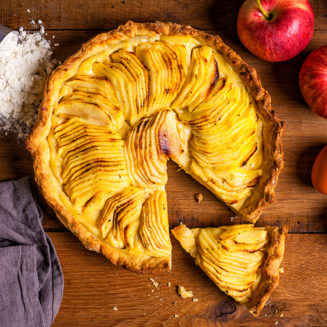 """Homemade apple pie"" stock image"