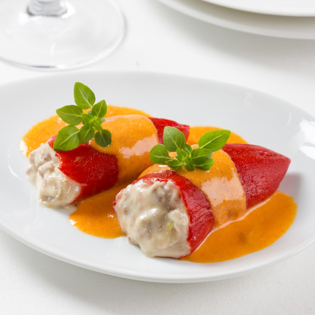 """Stuffed piquillo peppers"" stock image"