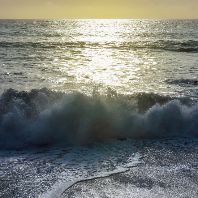 """""""Rolling waves"""" stock image"""