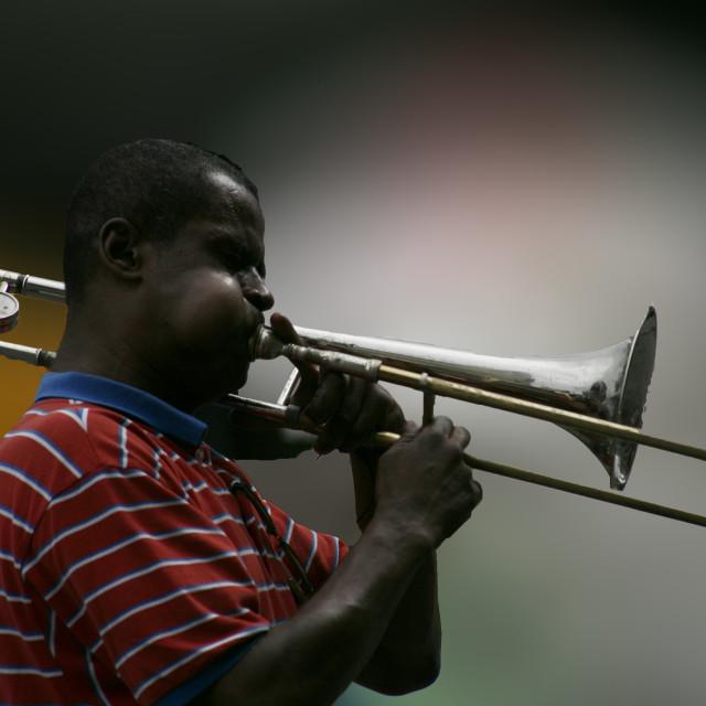 """Jazz Performer"" stock image"