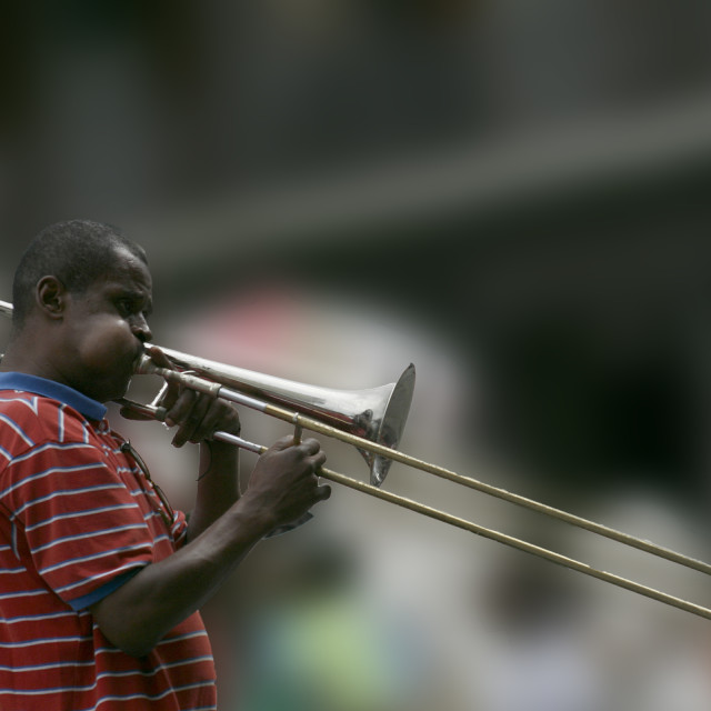 """Jazz Street Performer"" stock image"